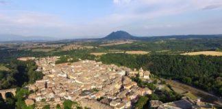 Civita Castellana, veduta aerea.