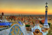 Tramonto su Barcellona da Parc Guell
