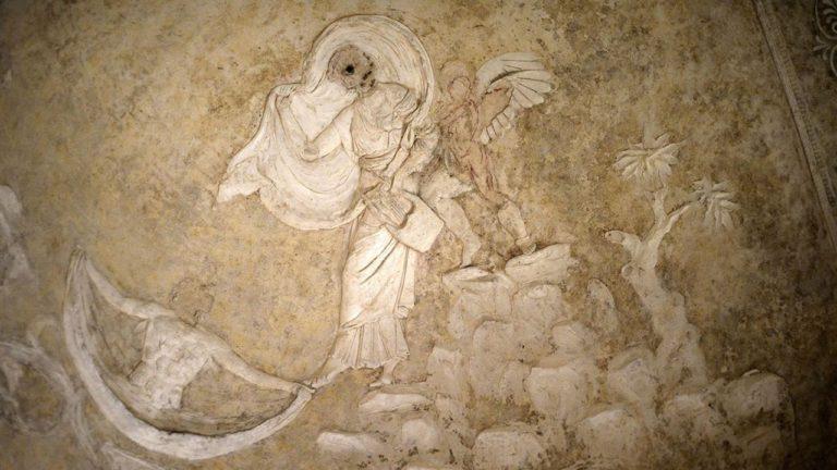 La Basilica sotterranea di Porta Maggiore rievoca il blu egizio