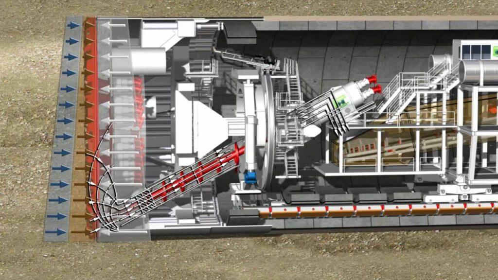 TBM - tunnel boring machine